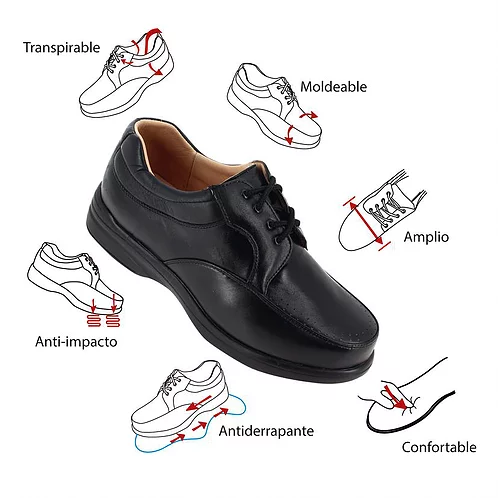 339 ADDICTION to conford zapato caballero pie diabetico o delicado